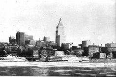 Cincinnati Riverfront in 1928