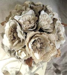 fabric-bridal-bouquet - I kind of like the idea of something like this