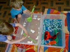 Arctic Week @ Messy Play By Le Baby Bakery Ice & Marshmallows in water tray or sensory box