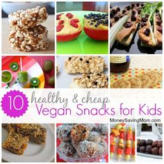 Need some cheap, easy, and delicious snack ideas? This list is FANTASTIC -- I especially love the Kiwi Pop idea. How fun is that?!