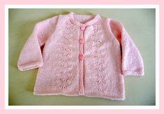 Une idée de cadeau pour bébé avec cette veste estivale!    A tricoter avec un fil KATIA Peques ou Mérino...