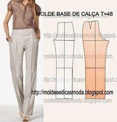 CLIQUE NAS IMAGENS PARA OBTER OS MOLDES BASE Os moldes base são o ponto de partida para fazer todos os modelos de roupa. Nesta página encontra moldes base