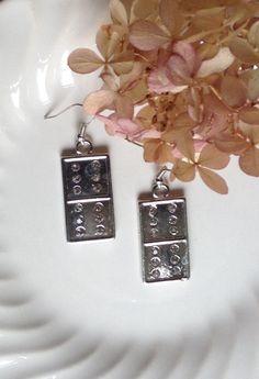 Handmade Domino Earrings...Dangle Earrings...Double Sixes... by 1840VintageLnJewelry on Etsy