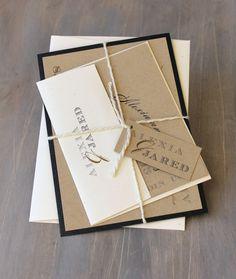 Rustikale Hochzeit Einladung moderne von BeaconLane auf Etsy