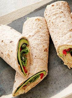 If you like hummus, then you need to try this wrap that is perfect for lunch! |foodnetwork.com