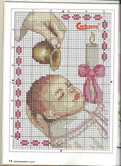 baby girl or boy baptism Cross Stitch Angels, Cross Stitch Baby, Counted Cross Stitch Patterns, Cross Stitch Charts, Cross Stitch Designs, Baby Patterns, Crochet Patterns, Wedding Cross, Cross Stitch Collection