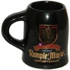 Rumple Minze Beer Shot Glass Mug Peppermint Schnapps Glasses. $3 eCrater.com