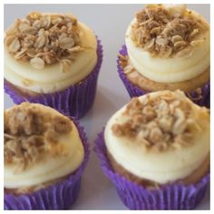 NEW MONTH = NEW FLAVOUR!  To celebrate the new season, spring into The Cupcake Queens this September for Blueberry Crumble Cupcakes!  A delicious blueberry & vanilla cupcake with cream-cheese icing and a to-die-for crumble topping.  See you soon xx  #thec
