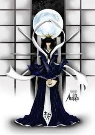 Tsukuyomi-no-Mikoto is the God of the Moon. He lives in the heavens with his sister the sun goddess.