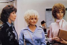 Lily Tomlin, Dolly Partion and Jane Fonda in 9 to 5 (1980). Costumes by Ann Roth.