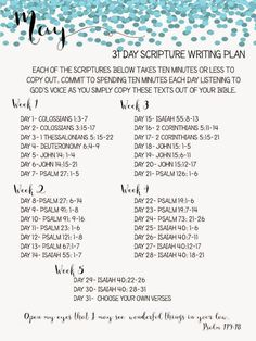 Sweet Blessings: May Scripture Writing Plan