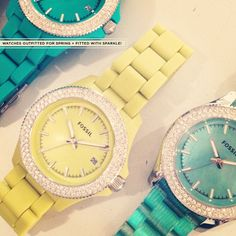 Citrus and Aqua = two of our favorite hues for spring #Fossil #SongofSpring #Spring Register to Win Here: on.fb.me/Y44D7O