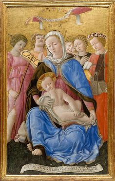 Domenico di Bartolo - Madonna dell'umiltà - 1433 - tempera su tavola - Siena, Pinacoteca Nazionale