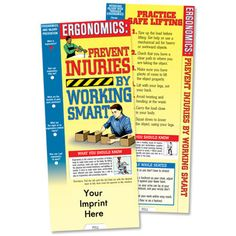 Ergonomics: Prevent Injuries By Working Smart Slideguide With Personalization  Item # 814-SL