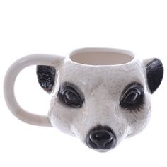 Coffee Cup Novelty Ceramic Meerkat Head Ceramic by getgiftideas