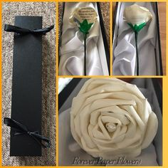 Forever rose for bereaved parents ❤️ #paperflowers #flowers #personalised #rose #whiterose #giftwrapped #handmade #bespoke #foreverpaperflowers
