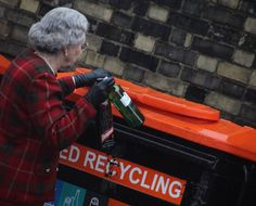 The Queen every conscious of the environment is a stickler for recycling....bless her...