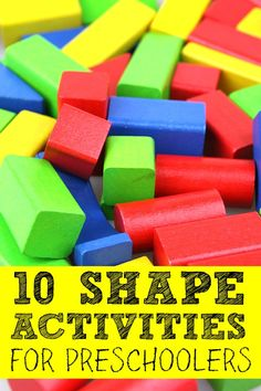 If you're looking for educational boredom busters to help you get through the long (and cold!) winter months with your sanity intact, this collection of shape activities for preschoolers is just what you need. I really (really!) love # 2!