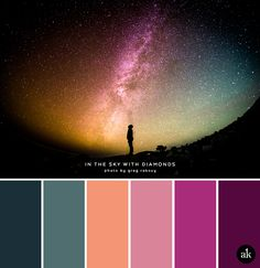 a starry-sky-inspired color palette