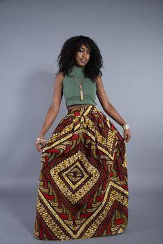 African print maxi skirt by L'AVIYE #Laviye #LaviyeGirls #AfricanFashion�