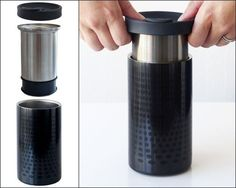 A travel mug that makes coffee IN THE MUG. | 21 Products For Coffee Lovers That Will Blow Your Caffeine-Loaded Mind