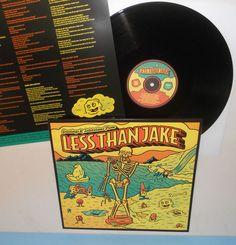 LESS THAN JAKE greetings and salutations LP Record Vinyl with lyrics insert #SkapunkPunkNewWave