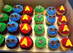 Alvin and the chipmunks cupcakes