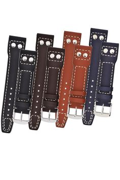 IWC Aviation Style Calf Leather Watch Strap in BLACK,BROWN,TAN and BLUE  £37.95