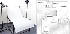 Espacios del estudio: -Ciclorama blanco de obra de 3×3 -3 fondos en pared de diferentes estilos -Sets -Office -Recepción amplia con capacidad para 20 personas -Sala de maquillaje