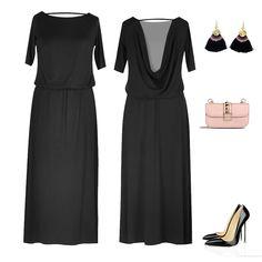 66c338fa8c Czarna sukienka maxi z odkrytymi plecami to nie tylko propozycja na letnią  stylizację - sukienkę można