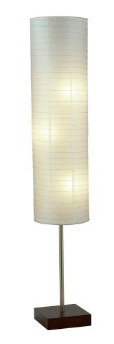 3 x 100W Amazon.com: Adesso 4099-15 Gyoza Floorchiere 67-Inch Floor Lamp with Rice-Paper Shade, Walnut: Lamps & Light Fixtures