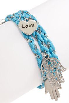 Meghan Fabulous Hamsa Wrap Bracelet