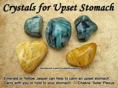 Crystals for upset stomach