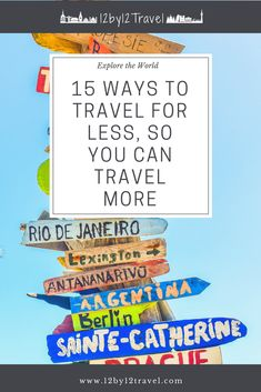 Travel more, for less! Learn my 15 ways for you to save money while traveling. These are all personal ways we travel on a budget and our budget travel tips. Cheap Vacation Destinations, Vacation Trips, Family Budget, Best Budget, Ways To Travel, Travel Tips, Credit Card Statement, Travel Information, Travel Essentials
