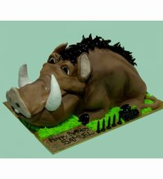 Pumba from the Lion King Birthday Cake Lion King Birthday, Lion King Cakes, Beautiful Cupcakes, Cake Board, Disney Cakes, Cake Stuff, Take The Cake, Mickey And Friends, Disney Inspired