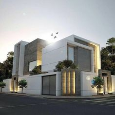 Looks a bit too blocky. Like use of different textures Design Exterior, Facade Design, Modern Exterior, House Architecture Styles, Facade Architecture, Villa Design, House Front Design, Modern House Design, Architectural House Plans