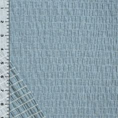 Heather Sky Blue Solid Cotton Jersey Pucker Knit Fabric
