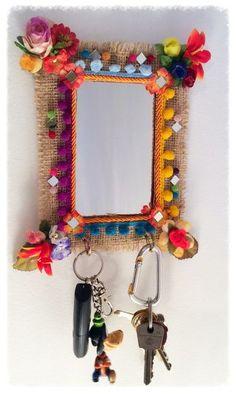 Diy Crafts Hacks, Easy Crafts For Kids, Diy Arts And Crafts, Creative Crafts, Mexican Home Decor, Indian Home Decor, Diy Diwali Decorations, Mirror Crafts, Diwali Diy