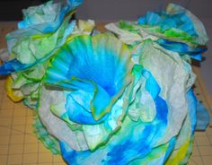undersea dyed coffee filters for coral or seaweed