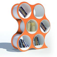Bolla 6 Shelving Tangerine now featured on Fab. - So funky and cute!