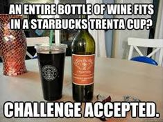 These funny Starbucks memes show that there is a lot to make fun of when it comes to the Seattle-based company. The best Starbucks memes make fun of the prices, customers, and more. All You Need Is, Just In Case, Happy Wine, Alcoholic Drinks, Cocktails, Wine Wednesday, All I Ever Wanted, Me Time, Things To Know