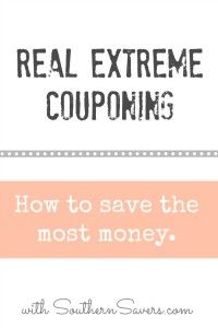 Save tons of money with real extreme couponing.