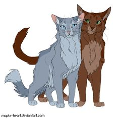 Bluefur and Oakheart by Maple-Heart.deviantart.com on @DeviantArt