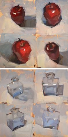 Studies: pick what works best, explain why. --Carol Marine's Painting a Day