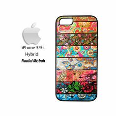 Paisley Planks iPhone 5/5s HYBRID Case Cover