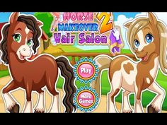 Pony Horse Caring Hair Salon - Horses Dress Up Makeover & Caring Games Horse Games, Animal Games, Play More Games, Games For Kids, Cartoon Games, Cartoon Kids, Elsa Outfit, Pony Horse, Hair Game