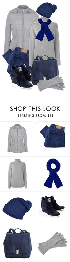 """""""grey & blue"""" by sagramora ❤ liked on Polyvore featuring George, Denim & Supply by Ralph Lauren, Chloé, Pringle of Scotland, ONLY, Ash, Proenza Schouler, Echo Design, women's clothing and women"""