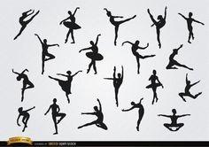 Dancer silhouette tattoo