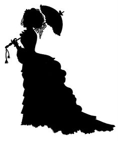 Victorian Lady Silhouette: Have parasol will travel. Right back to the victorian era with this lady. Silhouette Cameo, Silhouette Images, Vintage Silhouette, Woman Silhouette, Foto 3d, Graphics Fairy, Digital Stamps, Vintage Ladies, Victorian Ladies