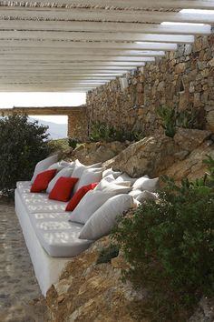 Mykonos: A luxury villa of exceptional beauty and panoramic location overlooking the Panormos Bay on Mykonos.